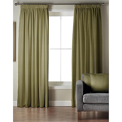 Whiteheads - Ripple Cactus Lined Pencil Pleat Curtains