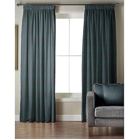 Whiteheads - Ripple Kingfisher Pencil Pleat Lined Curtains