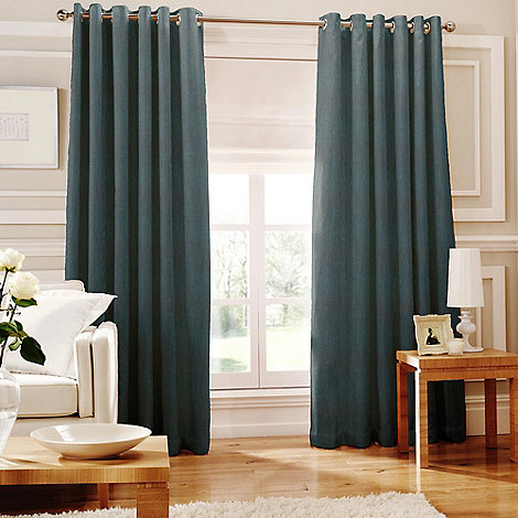 Whiteheads - Ripple Kingfisher Lined Eyelet Curtains