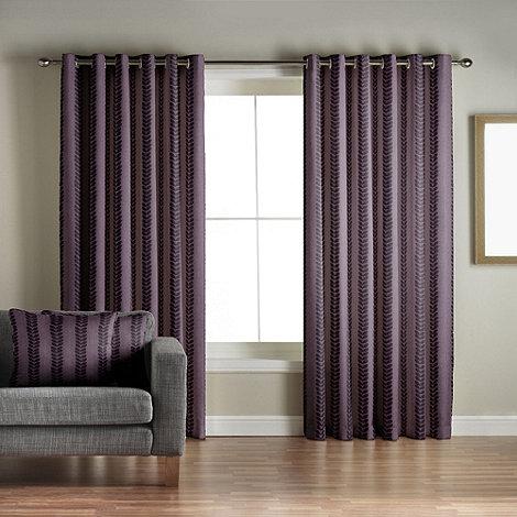 Jeff Banks Home - Sierra Aubergine Lined Eyelet Curtains