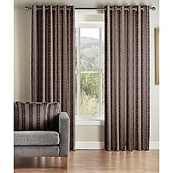 Jeff Banks Home - Sierra Chocolate Lined Eyelet Curtains