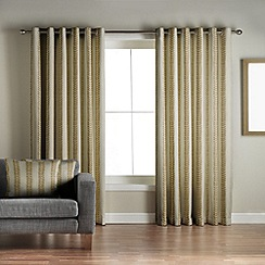 Jeff Banks Home - Sierra Lime Lined Eyelet Curtains
