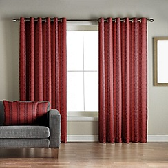 Jeff Banks Home - Sierra Red Lined Eyelet Curtains