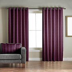 Jeff Banks Home - Sierra Wine Lined Eyelet Curtains