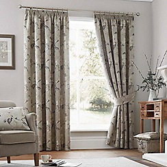 Curtina - Suranzo natural lined curtain pencil pleat heading curtains