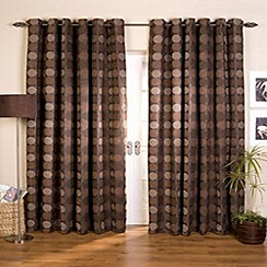 Whiteheads - Tanushree Chocolate Lined Eyelet Curtains
