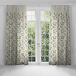 Voyage - Thistle Glen Linen lined pencil pleat heading curtains