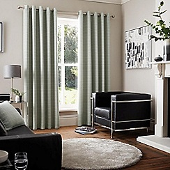 Curtina - Vermont Grey  Eyelet Heading Curtains