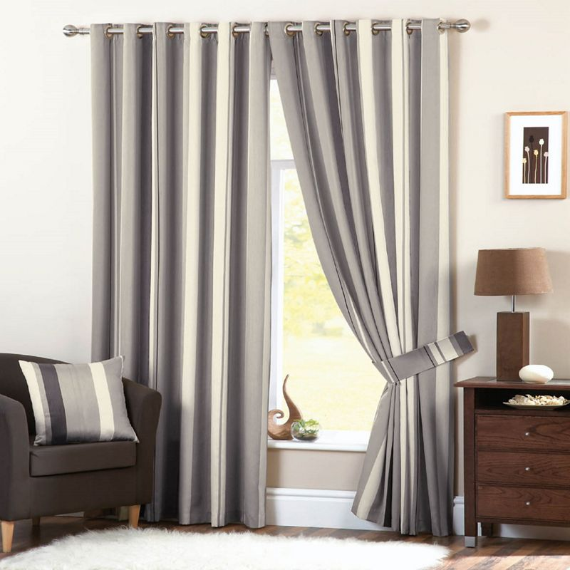 Dreams n Drapes Whitworth Charcoal Lined Curtains