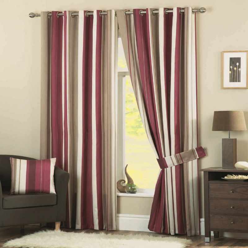 Dreams n Drapes Whitworth Claret Lined Curtains