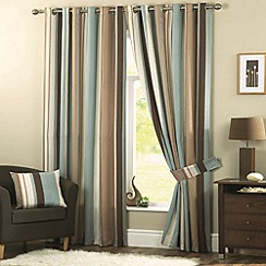Dreams n Drapes - Whitworth Duck Egg Lined Curtains