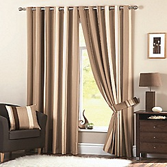 Dreams N Drapes   Whitworth Natural Lined Curtains