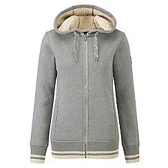 Tog 24 - Dark grey marl alex fleece lined zip hoodie