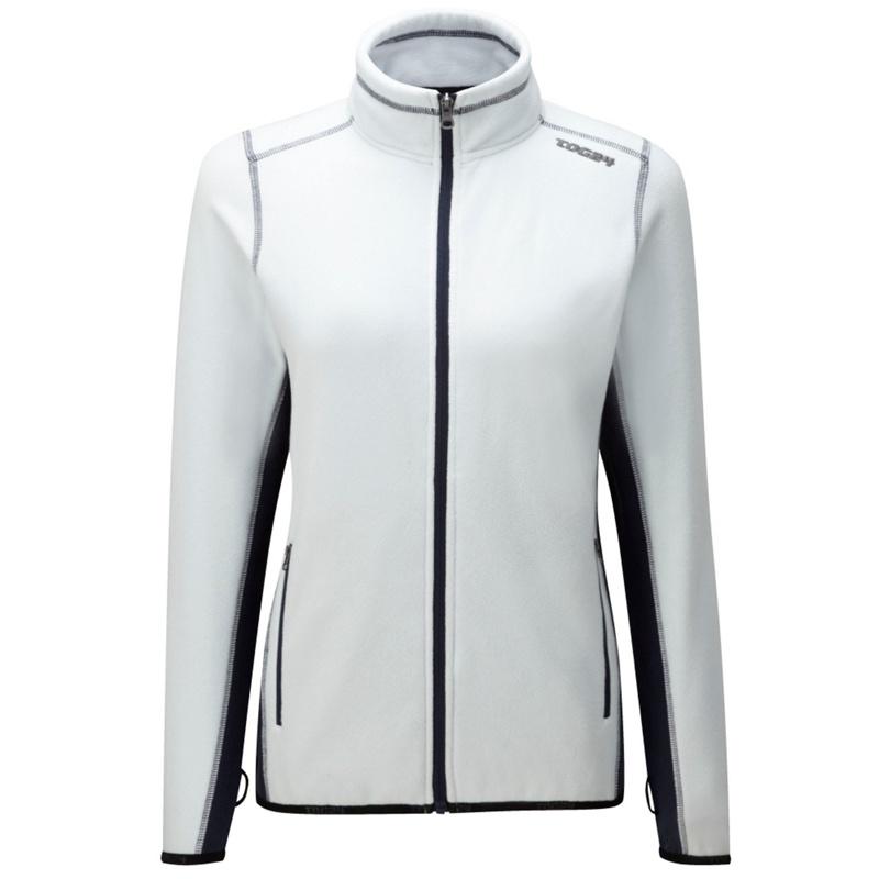 Tog 24 Whitemood Blue Ally Tcz Fleece Jacket, Womens, Size: 14, White