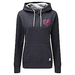 Tog 24 - Navy marl heart amy deluxe hoodie
