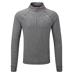 Tog 24 - Grey marl ascend tcz stretch zip neck