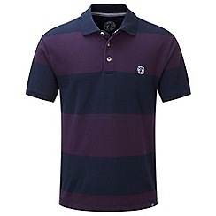 Tog 24 - Plum bennett stripe polo shirt