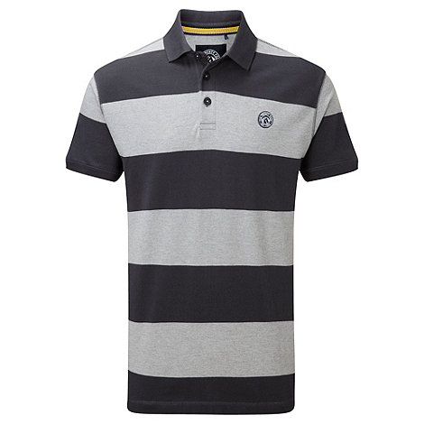 Tog 24 - Grey marl booth stripe polo