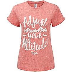 Tog 24 - Coral marl brett t-shirt adjust print