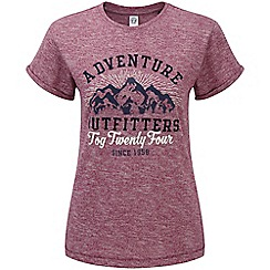 Tog 24 - Red plum marl brett t shirt outfit print