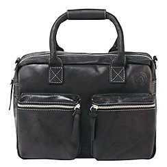 Tog 24 - Black bridport leather bag