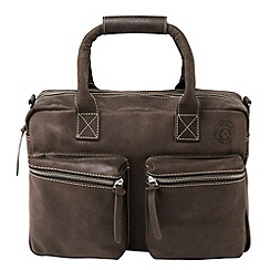 Tog 24 - Brown bridport leather bag