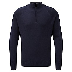 Tog 24 - Navy calder merino zip neck jumper