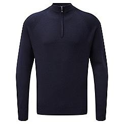 Tog 24 - Navy calder merino zip neck jumper