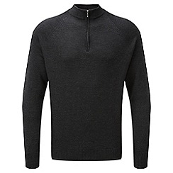 Tog 24 - Charcoal calder merino zip neck jumper