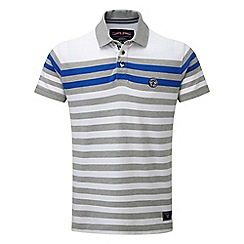 Tog 24 - White campbell stripe polo shirt