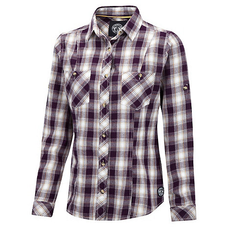 Tog 24 - Aubergine check canada cotton shirt