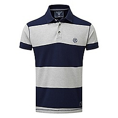 Tog 24 - Grey marl collins stripe polo shirt