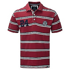 Tog 24 - Rio red connor stripe deluxe polo