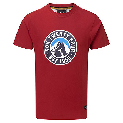 Tog 24 - Rust red bright stamp cosmos t-shirt