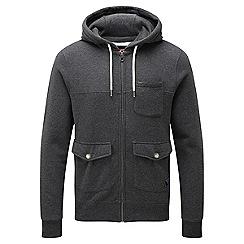 Tog 24 - Dark grey marl crail full zip hoodie