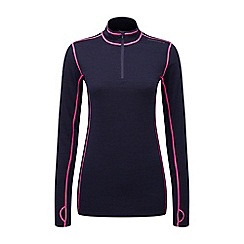 Tog 24 - Navy/neon creation tcz merino zip neck