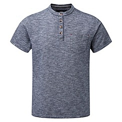 Tog 24 - Dark midnight dingham button neck t-shirt