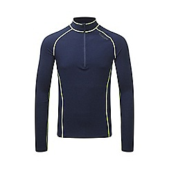 Tog 24 - Navy/lime ergo tcz diamond zip neck