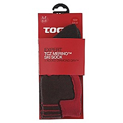 Tog 24 - Fire red expert merino/diamond dry ski sock