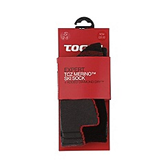 Tog 24 - Black expert merino/diamond dry ski sock