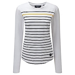 Tog 24 - White stripe fleur deluxe long sleeve t-shirt