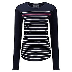 Tog 24 - Navy stripe fleur deluxe long sleeve t-shirt