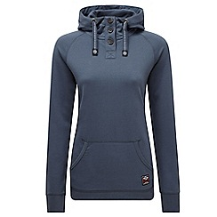Tog 24 - French navy flora deluxe button hoody