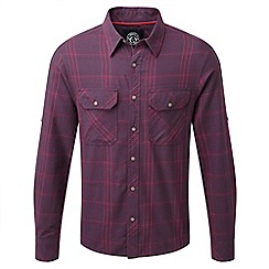 Tog 24 - Plum check foxe tcz cotton shirt
