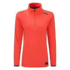 Tog 24 - Neon coral halo TCZ 100 fleece zip neck