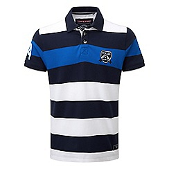 Tog 24 - Navy harper stripe polo shirt