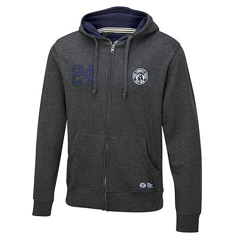 Tog 24 - Dark grey marl harvard zip hoody