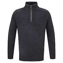 Tog 24 - Charcoal wash hornet cotton zip neck