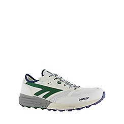Hi Tec - White/grn/purpl hi-tec badwater mens trainer