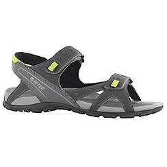 Hi Tec - Charcoal/black laguna strap sandals